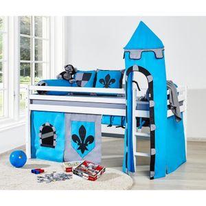 lit mi hauteur enfant achat vente lit mi hauteur enfant pas cher cdiscount. Black Bedroom Furniture Sets. Home Design Ideas
