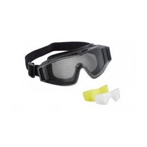 Masque tactique Airsoft Grillage Noir + 2 ecrans- Umarex CE