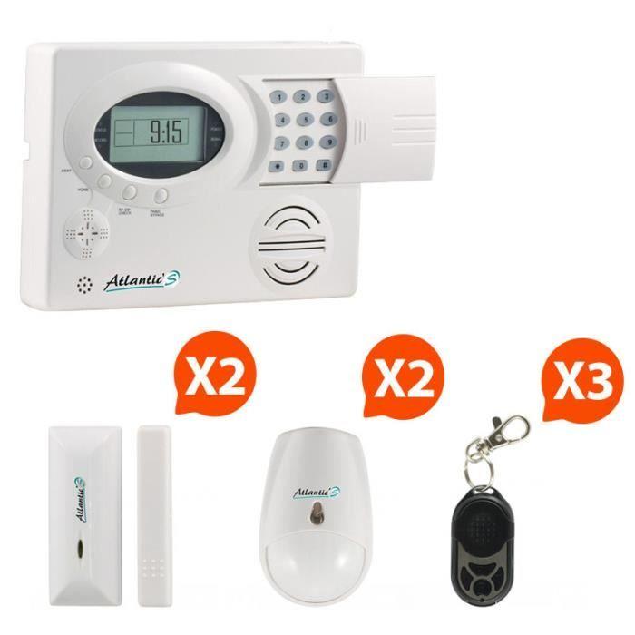 Atlantic 39 s alarme maison sans fil st iii kit 2 achat for Alarme maison sans fil diagral