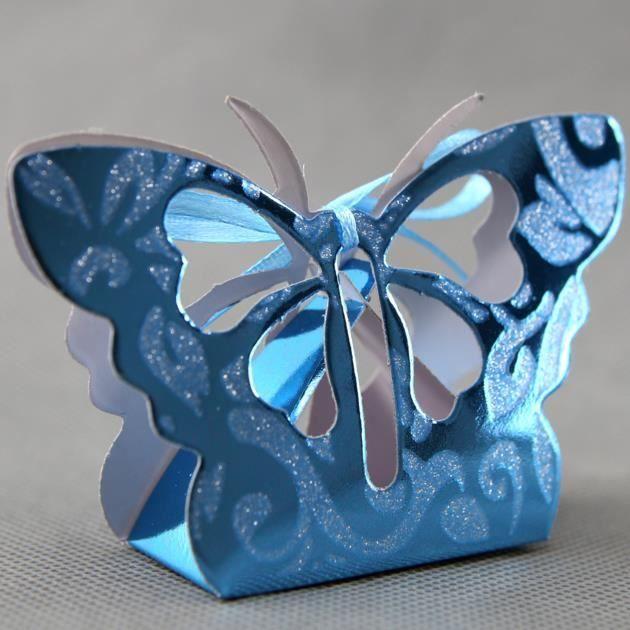 lot 50 bo tes drag es papillon orientaux pour faire part mariage motif floral btp4 achat. Black Bedroom Furniture Sets. Home Design Ideas