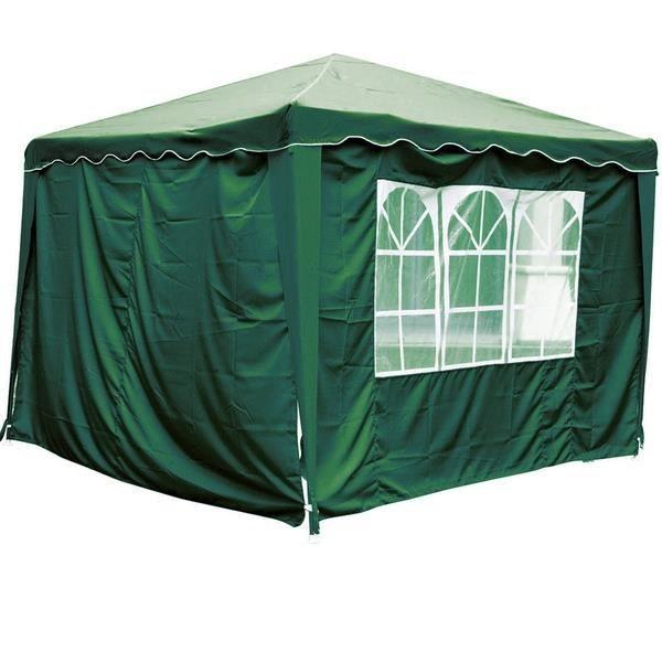 rideaux avec fen tre pour tonnelle de jardin verte achat vente tonnelle barnum rideaux. Black Bedroom Furniture Sets. Home Design Ideas