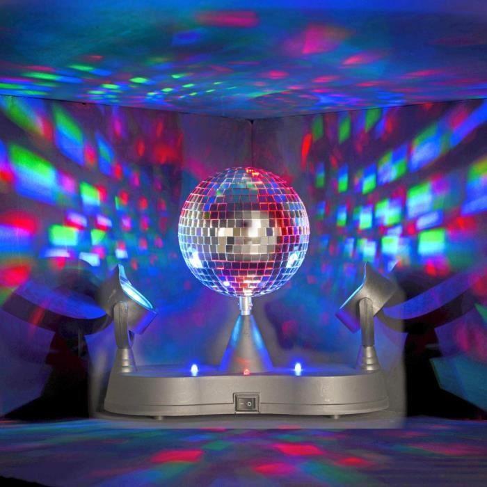Lampe disco table boule facette et 2 projec achat vente boule a fa - Ampoule boule a facette ...