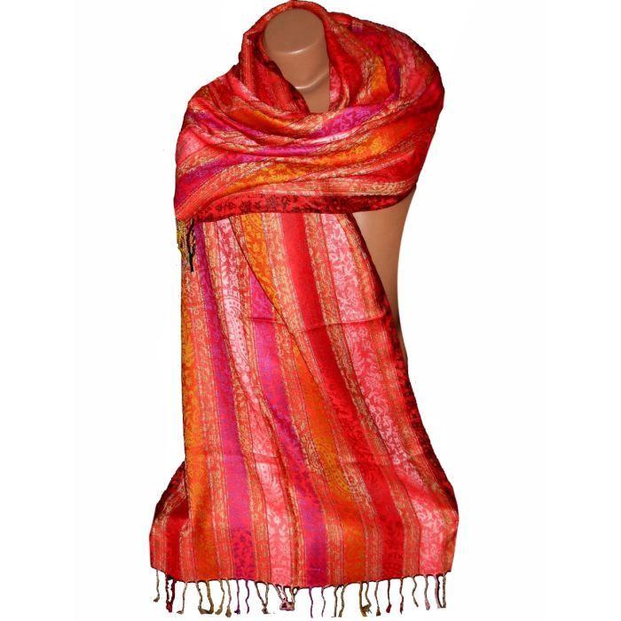 Etole écharpe motif cachemire Achat   Vente echarpe foulard Etole c5b5894d4f2