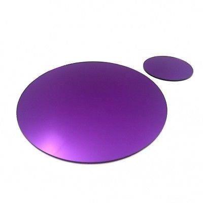 4 napperons ovales miroir violet et sous verres achat for Miroir 40x150