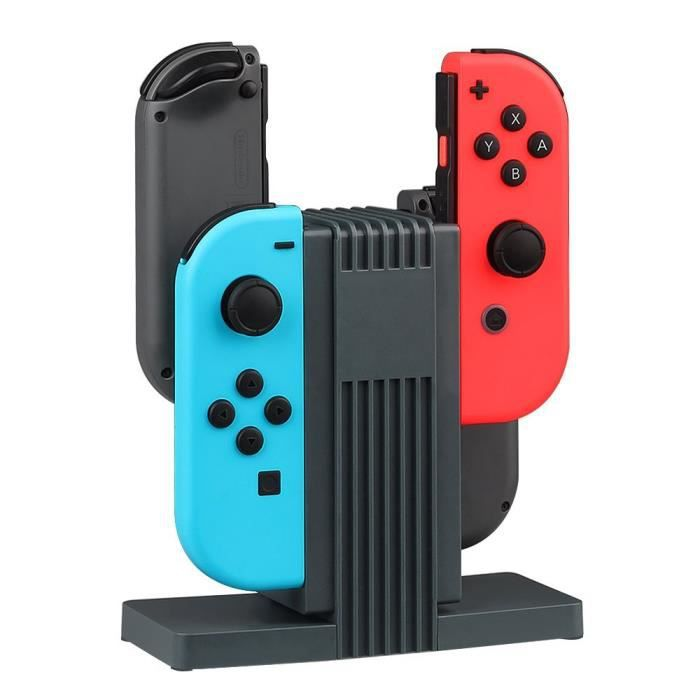 charger stand pour nintendo switch manette joy con achat. Black Bedroom Furniture Sets. Home Design Ideas