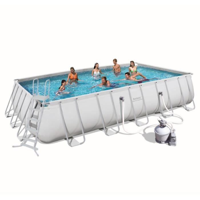 Piscine tubulaire rectangulaire steel pro frame pools for Achat piscine tubulaire rectangulaire