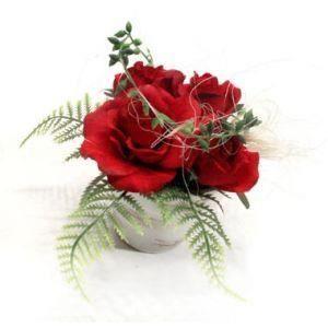 mini composition roses rouge achat vente fleur artificielle s ch e cdiscount. Black Bedroom Furniture Sets. Home Design Ideas