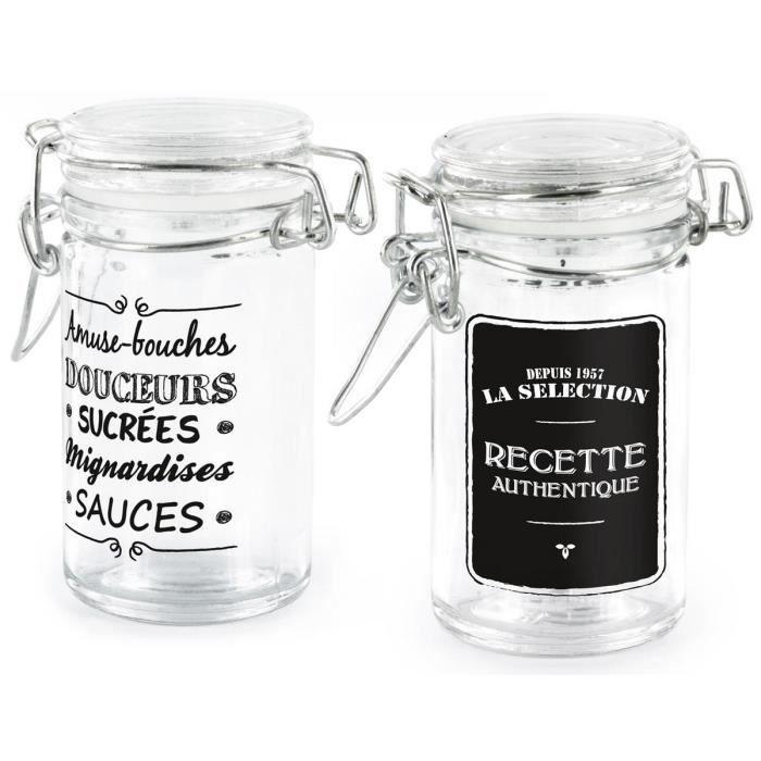 bocaux en verre en lot achat vente bocaux en verre en lot pas cher les soldes sur. Black Bedroom Furniture Sets. Home Design Ideas