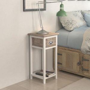 table de chevet design marron - achat / vente table de chevet ... - Meuble Telephone Design