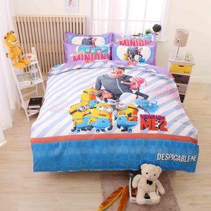 parure de lit les minions 1 achat vente parure de lit les minions 1 pas cher cdiscount. Black Bedroom Furniture Sets. Home Design Ideas