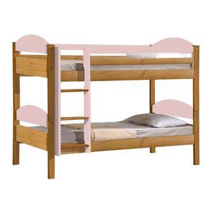 lit superpose fille achat vente lit superpose fille pas cher cdiscount. Black Bedroom Furniture Sets. Home Design Ideas