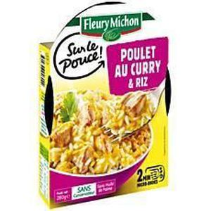 fleury michon poulet au curry et riz 280g achat vente plat cuisin poulet au curry et riz. Black Bedroom Furniture Sets. Home Design Ideas