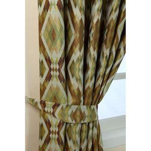 rideau avec motif vert achat vente rideau avec motif vert pas cher cdiscount. Black Bedroom Furniture Sets. Home Design Ideas