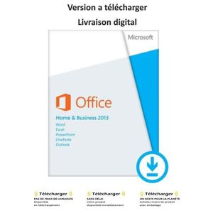 Pack office 2007 prix pas cher cdiscount - Pack office home and business 2013 ...