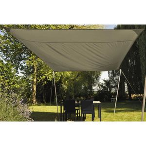 VOILE D'OMBRAGE Voile ombrage carré 3,00 m 170 gr/m² sable/taupe
