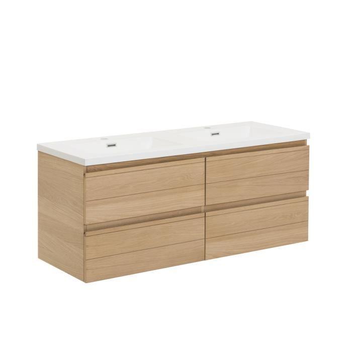 Abeas meuble de salle de bains en plaqu ch ne 120cm for Plaque de salle de bain