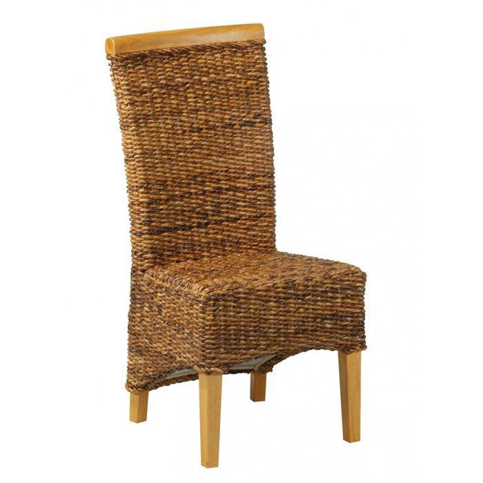 chaise en abaca lot de 2 achat vente chaise cdiscount. Black Bedroom Furniture Sets. Home Design Ideas