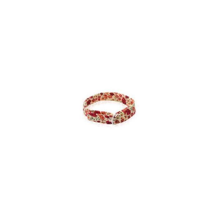bracelet femme enfant en tissu liberty rouge et achat vente bracelet gourmette bracelet. Black Bedroom Furniture Sets. Home Design Ideas
