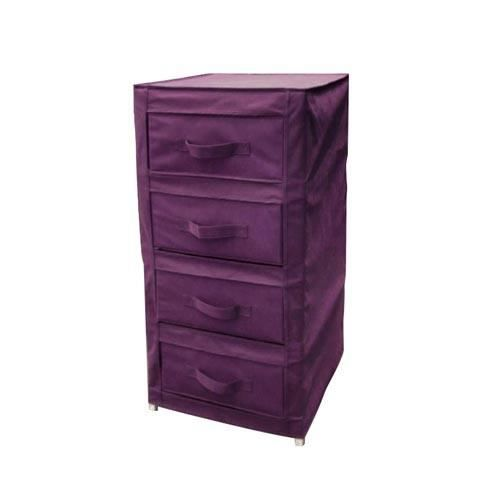 toffe armoire tiroirs pourpre avec 4 tiroirs achat. Black Bedroom Furniture Sets. Home Design Ideas