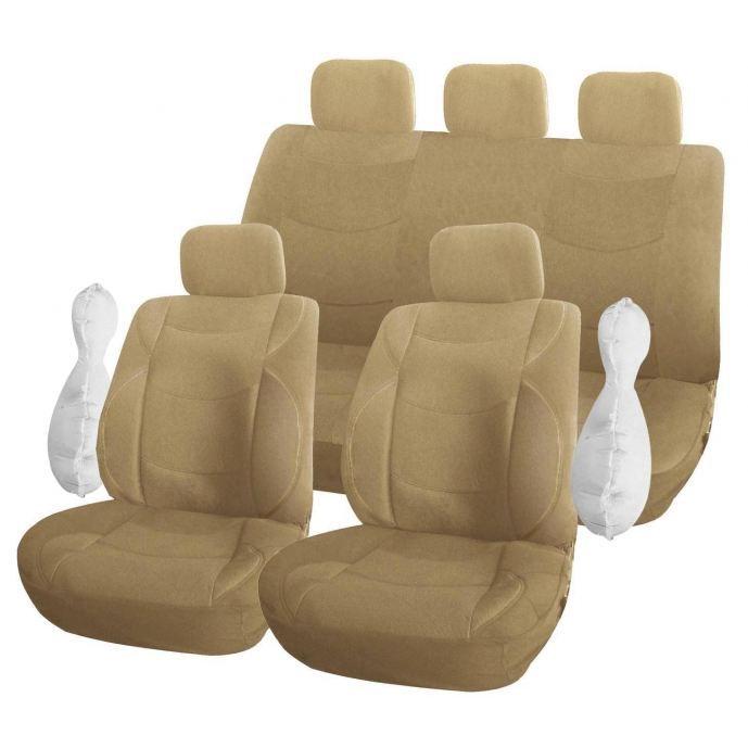 jeu de housses universelles president beige achat vente housse de si ge jeu de housses. Black Bedroom Furniture Sets. Home Design Ideas