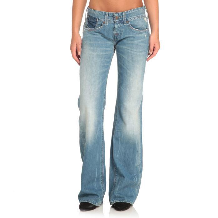 replay jean large femme bleu d lav achat vente jeans replay jean femme cdiscount. Black Bedroom Furniture Sets. Home Design Ideas