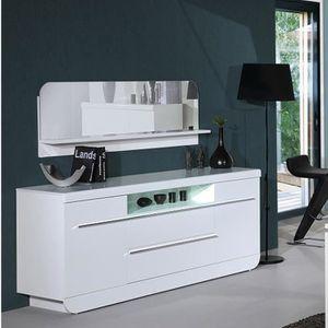 FLOYD Bahut 200 cm avec éclairage LED laqué blanc