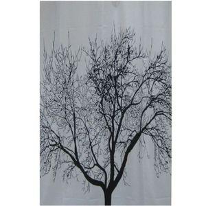 FRANDIS Rideau de douche textile Arbre noir