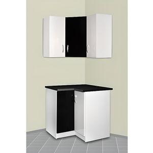 Meuble cuisine d 39 angle haut et bas oxane noir achat - Caisson d angle pour cuisine ...