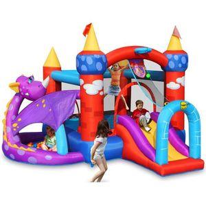 AIRE DE JEUX GONFLABLE HAPPY HOP Château - Aire de jeux gonflable Dragon