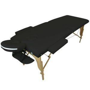 TABLE DE MASSAGE Table de Massage Pliante 2 Zones Noire