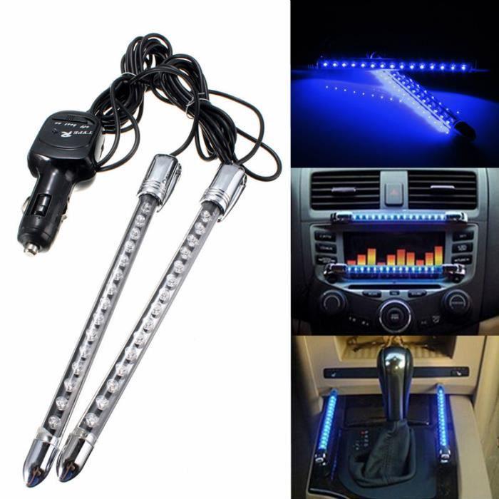 2x lampe neon 15 led voiture clignotante feux int rieur son activ 20cm 12v b - Lampe interieur voiture ...