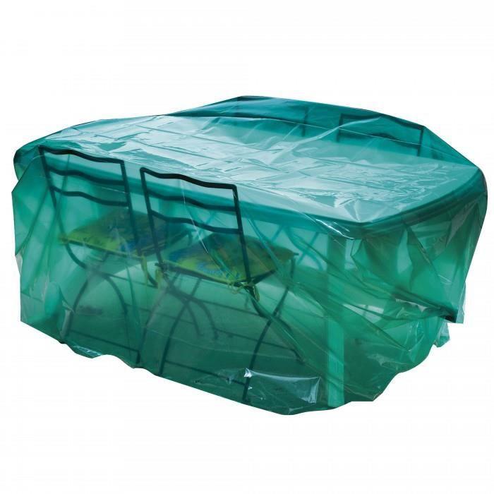 housse luxe pour table et 8 chaises longueur 3 m housse pour salon de jardin complet film. Black Bedroom Furniture Sets. Home Design Ideas