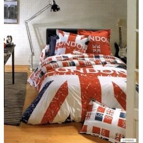 parure housse de couette london 200x200 achat vente parure de couette cadeaux de no l. Black Bedroom Furniture Sets. Home Design Ideas