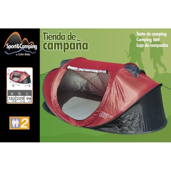 tente de camping pop up 2 places achat vente tente. Black Bedroom Furniture Sets. Home Design Ideas