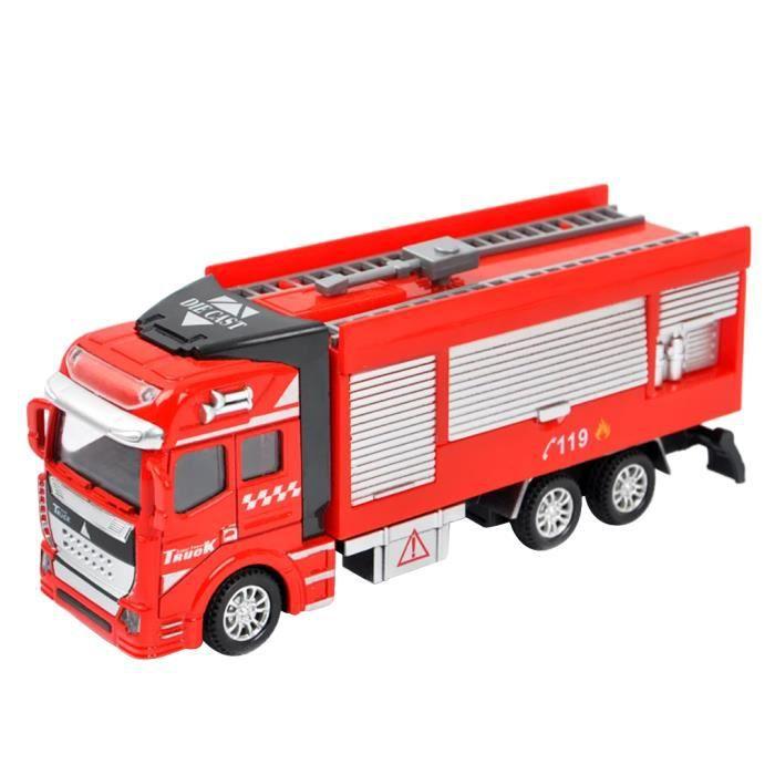 B b jouet camion de pompier 1 48 echelle v hicules fire rescue truck cannon - Voiture pompier enfant ...