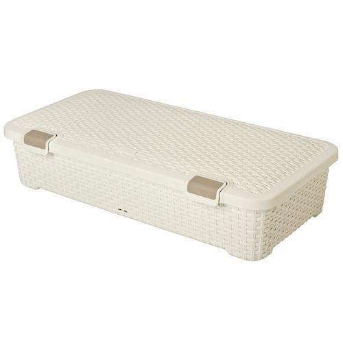 Coffre rangement plastique sous lit - Boite de rangement plastique sous lit ...