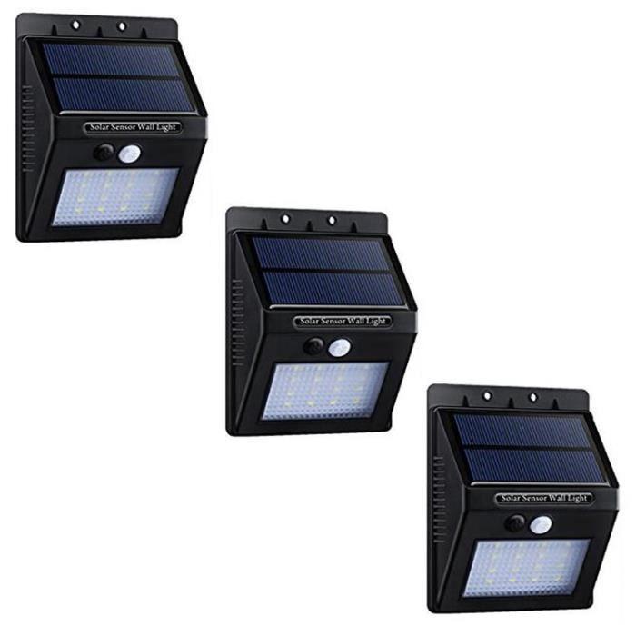 3 pcs 20 led lampe solaire ext rieure eclairage solaires d 39 ext rieur lanterne de jardin achat. Black Bedroom Furniture Sets. Home Design Ideas
