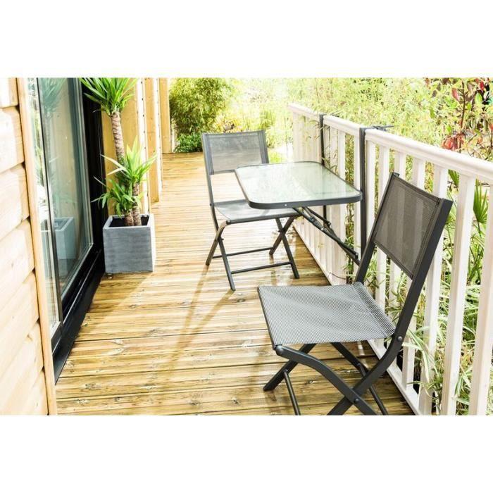 Ensemble de jardin anthracite balcon 2 3 personnes achat - Ensemble de jardin ...