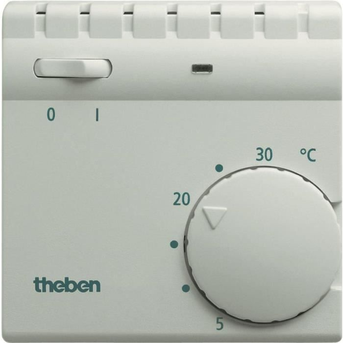 Thermostat int rieur theben ram 706 blanc achat vente for Thermostat interieur
