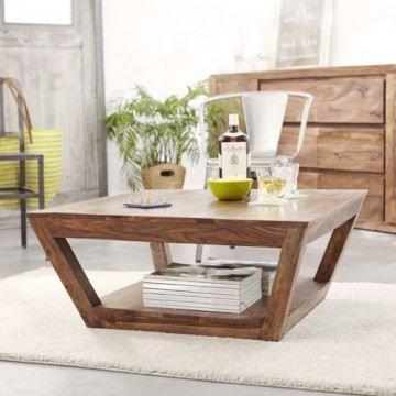 Table basse en palissandre 80x80 villa achat vente for Meuble 70x70