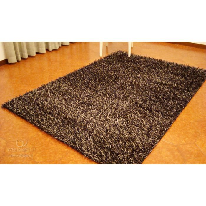 Unito nero tapis shaggy cm 120x170 achat vente tapis cdiscount - Tapis shaggy 120x170 ...