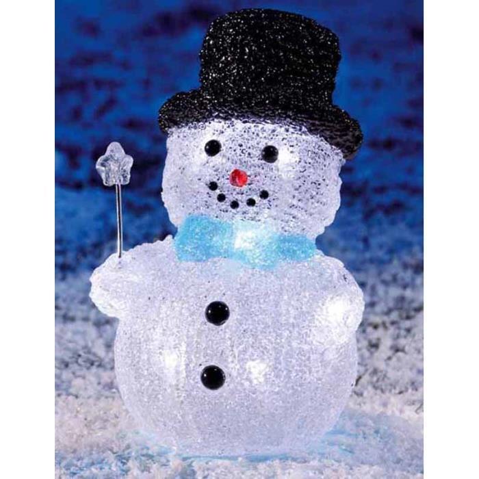 Bonhomme de neige avec chapeau noir et10 led achat vente bonhomme de neige avec chap - Chapeau bonhomme de neige ...