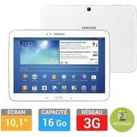 Tablettes SAMSUNG GALAXY TAB3 101 WIFI 3G BLANC 16GO 10.1\