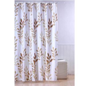 FRANDIS Rideau de douche textile Feuilles beige