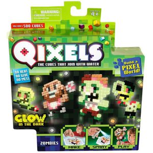 QIXELS Mini Kit 4 Créations Glow In The Dark - Th?me Zombies