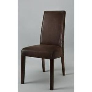meuble table moderne chaises marron. Black Bedroom Furniture Sets. Home Design Ideas
