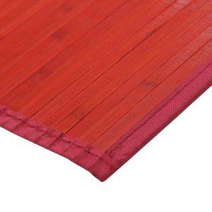 Tapis bambou rouge achat vente tapis bambou rouge pas cher cdiscount - Tapis bambou pas cher ...