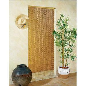 Rideau de porte store bambou achat vente rideau de porte store bambou pas cher cdiscount - Rideau de porte exterieur ...