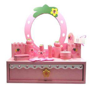 coiffeuse fille en bois achat vente jeux et jouets pas chers. Black Bedroom Furniture Sets. Home Design Ideas