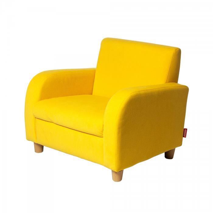 sofa jaune fauteuil enfant tissu coton achat vente fauteuil les soldes sur cdiscount. Black Bedroom Furniture Sets. Home Design Ideas